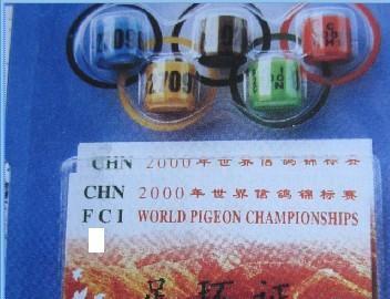 2000年我国发行世界锦标赛纪念环