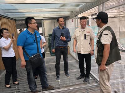 国际鸟类科学家戴凯泽来访开尔鸽业