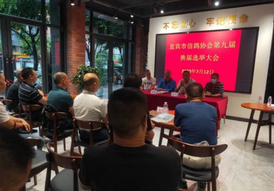 四川宜宾鸽协举行第九届换届选举大会