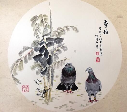 百羽信鸽入画来 云南10米《百鸽图》